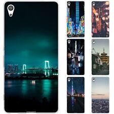 Dessana Tokio Downtown TPU Silicone Etui Coque Étui pour Téléphone Portable sony