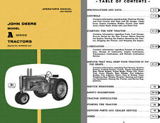 John Deere Model A Series Tractors (Serial No. 648000-Up) Operators Manual OM-R2