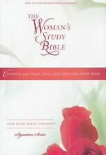 Nkjv Womens Study Bible Large Print 9 point Black Leather Soft Brand New!