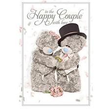 ME TO YOU HAPPY COUPLE 3D HOLOGRAM WEDDING CARD TATTY TEDDY BEAR