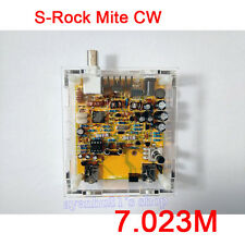 S-Rock Mite CW QRP Transceiver Shortwave Radio Telegraph 7.023M Diy Kits + Case