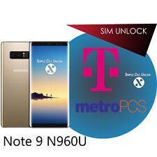 Samsung Galaxy T-Mobile MetroPCS Note 9 SIM Network Unlock Service PERMANENT!