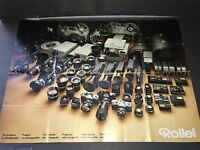 """Rollei 23"""" x 17"""" 1973 Fold Out Camera Poster TLR / 35mm SLR / SL66"""