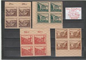 Alli -Besetzung ( SBZ )- Briefmarken 4x4er Block geschnitten Postfrisch