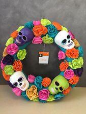 NEW, Day of the Dead Wreath Halloween Decor