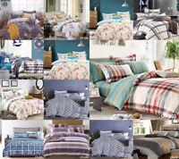 4 Piece Complete Bedding Set 100% Egyptian Cotton Pure Quilt Duvet Cover TC 200