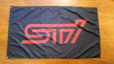Car Racing Banner Flags for SUBARU STI BLACK FLAG BANNER Flag 3ft x 5ft