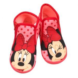 Minnie Maus Hausschuhe Schlappen Mädchen Pantoffeln Kinder Puschen 26-33 Neu
