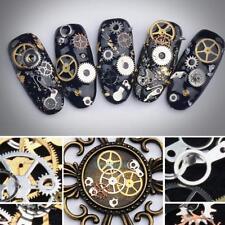 3D 100pcs Nail Art Transfer Sticker Decal Gear Design Manicure Tips Decor Tool U