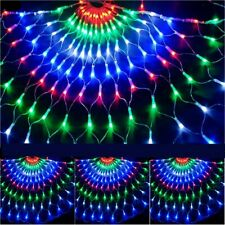 3M*3M LED Curtain String Lights Xmas Fairy Peacock Window Show Light  8 Modes