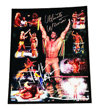 WWE ULTIMATE WARRIOR AND HULK HOGAN DUAL SIGNED 16X20 PHOTO WITH PROOF AND COA