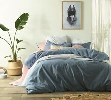 Vintage Design Homewares Stonewashed Denim Quilt Cover Set