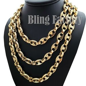 """Hip Hop Gold Plated Rapper's 6mm 18"""" 20"""" 24"""" Gucci Link Chain Bling Necklace"""