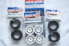 TAMIYA 1/10 RC CAR TIRE(50568)+WHEEL(51394)+Inner SET for M-Chassis (RADIAL)