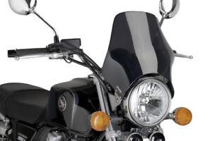 Windschutz Windshield Scheibe Cockpitscheibe Puig Naked dunkel Yamaha Suzuki ABE