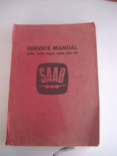 Very Rare Saab Service Manual Printed in Sweden by Gotab, Surte 1960