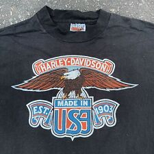 VINTAGE 80's HARLEY DAVIDSON EAGLE PACIFIC HONOLULU HAWAII T-SHIRT HANES SIZE L