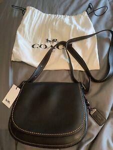 BNWT 100% Genuine Coach Leather Saddle Bag