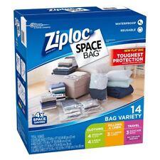 Ziploc SPACE BAG 14 pezzi SACCHETTO SALVASPAZIO SACCHETTI Ziplock Storage Set Nuovo di Zecca