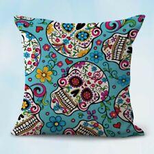 decorative pillow cover sugar skull calavera Mexcian cushion cover