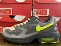 "Men's Nike Air Max 2 Light ""Gun Smoke/Volt"" Athletic Fashion Sneakers CJ0547 001"