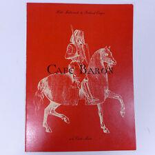 "Vintage Cafe Baron a la Carte Dining Paper Menu 12"""