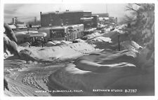 RPPC Winter In Susanville, CA Street Scene Ford Sign ca 1950s Vintage  Postcard