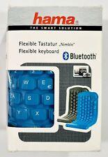 "Hama Bluetooth Flexible Keyboard/Keyboard ""NIMBLE"" Blue Smartphone/Android/Battery"