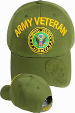 US Army VETERAN Ball Cap Infantry Armor Cavalry Airborne Engineer Hat OD GREEN