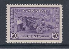 Canada Sc 261 MNH. 1942 50c violet Artillery, fresh & VF