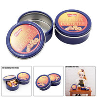1:6 Dollhouse 2PCS Blue Cookies Box Metal Biscuit Box Food Miniature Decor Gift