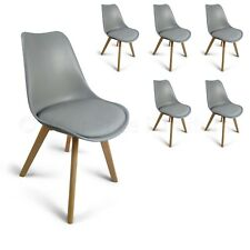 6 Grey Toulouse Eiffel Style Quality DESIGNER Dining Chairs Art Deco