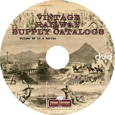 Vintage Railway Supply {Railroad Hardware & Tool } Catalogs of the 1800's on DVD