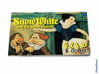 🔥Vintage • Disney Snow White & Seven Dwarfs 3 Inch Flip Book • New
