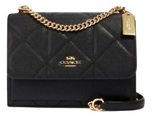 COACH 91173 KLARE CROSSBODY BAG WITH QUILTING BLACK MSRP: $428.00