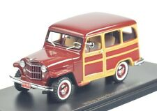 Jeep Willys Station Wagon, dark red/wood look 1954 1:43 NEO 44644