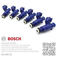 BOSCH FUEL INJECTOR SET V6 ALLOYTEC 3.6L [2006-09 HOLDEN VE COMMODORE/CALAIS]
