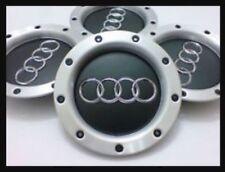 AUDI CENTER WHEEL HUB CAPS BADGES A3 A4 A6 S6 RS6 TT 8D0601165K BLACK 4x 146mm