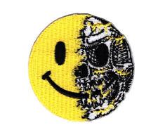Smiley Evil Skull Airsoft VELCRO® BRAND Hook Fastener Morale Patch
