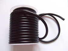 1mt  filo  in caucciù sintetico 5mm colore nero foro 2mm
