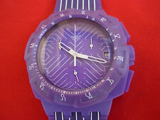 SWATCH NEW CHRONO PURPLE RUN - SUIV401 - 2010 - NUOVO NEW diameter 43 mm.
