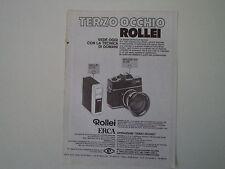advertising Pubblicità 1970 ERCA ROLLEI E 17 C - SL 26