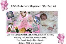 Reborn Complete Starter Beginner Kit, Genesis paints, Mohair, Doll kit, EDEN