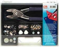 Valigetta Vario Plus Prym 651420 Set Montaggio Bottoni Automatici Rivetti e Occh