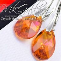 925 STERLING SILVER CRYSTALS FROM SWAROVSKI® PEAR 16MM - ASTRAL PINK