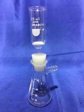 Vacuum Filtration Unit Buchner Medium 15 mL Frit Funnel 50 mL Flask