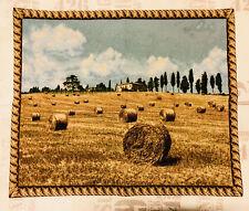 Toscana Toscana Toscano Paisaje Arazzo Tapiz Tapicería 70x 90 cm