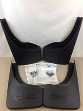 2014-2015 GMC Sierra Front Rear Black Molded MUD FLAP GUARD PACKAGE KIT new OEM