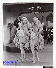 June Haver busty leggy, Betty Grable VINTAGE Photo Dolly Sisters