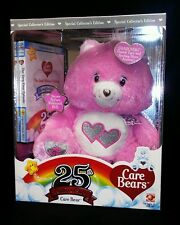 Care Bears Love A Lot Bear Pink Plush 25th Anniversary Swarovski Crystal New